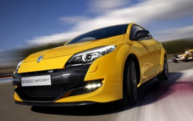 Картинка Спорт, Renault, Машины, Sport, Автомобили, Yellow, Race
