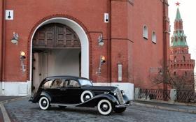 Обои фон, ворота, Кремль, передок, 101, 1936, ЗиС