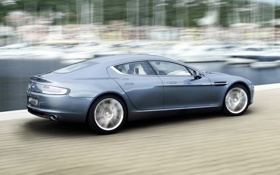 Обои Rapide, Aston Martin, Blue
