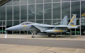 Обои истребитель, самолёт, музей, F-15A Eagle