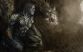Обои арт, The Darkness, смерть, монстры