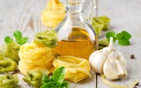 Картинка масло, еда, чеснок, макароны, тортеллини