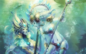 Картинка вода, арт, nami, League of Legends, Fizz, Tidecaller, Tidal Trickster