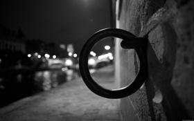 Обои макро, ночь, город, огни, фото, фон, стена