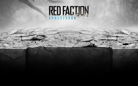 Обои Red Faction, трещины, Armageddon, пропасть