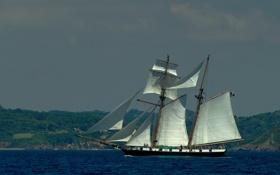 Обои море, корабль, парусник