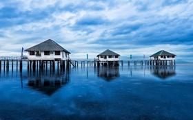 Картинка море, домики, philippines