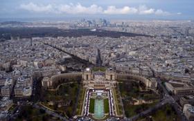 Обои вид, панорама, Париж