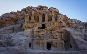 Картинка скала, гора, храм, архитектура