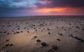 Картинка море, пляж, небо, природа, камни