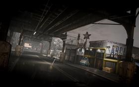 Картинка мост, дождь, улица, здания, арт, gta4