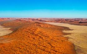 Картинка песок, небо, парк, пустыня, горизонт, дюны, Африка