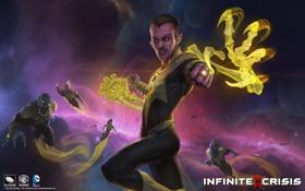 Обои DC Comics, Sinestro, Infinite Crisis, supervillain