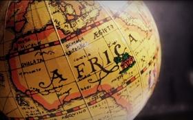 Обои фото, Африка, глобус, материк