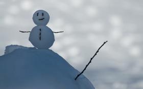 Обои снег, блики, снеговик, © Ben Torode