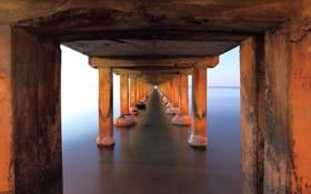 Обои night, long exposure, Dromana pier