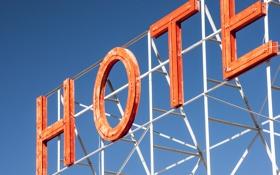 Обои буквы, надпись, вывеска, отель, гостиница, hotel