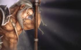 Обои Варвар, Reaper of Souls, арт, Diablo 3, мужчина, Barbarian, оружие