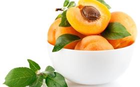 Картинка лето, еда, фрукты, персики, абрикосы