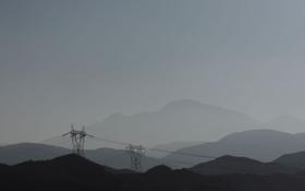 Картинка небо, горы, фото, фон, холмы, обои, столбы
