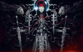 Картинка взгляд, оружие, фантастика, руки, арт, мечи, banshee