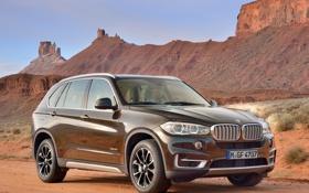 Картинка BMW, пустыня, автомобиль, небо, xDrive50i, горы, скалы