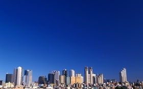 Обои небо, пейзаж, небоскреб, дома, мегаполис