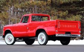 Обои 1960, вид сзади, пикап, Studebaker, Champ
