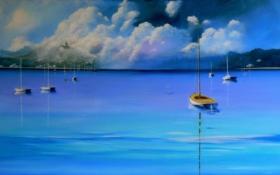 Обои море, пейзаж, картина