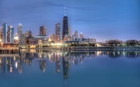 Картинка город, Chicago, Michigan