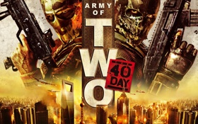 Картинка город, оружие, самолеты, солдаты, army of two, video game, the 40th day