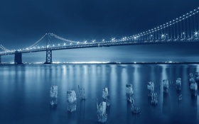 Обои City, Amazing, Blue, Bridge, San Francisco, Beauty, Bay