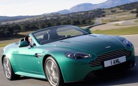 Обои машина, Aston Martin, Roadster, скорость, Vantage S