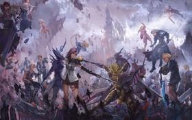 Обои final fantasy, Sephiroth, square enix, art, lightning