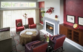 Обои дизайн, камин, large, вилла, colored, дом, гостиная