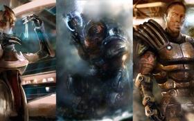 Картинка Mass Effect 3, грюнт, Заид Массани, Мордин