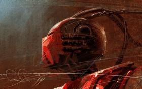 Обои mortal kombat, ninja, cyborg, sektor, mechanized warrior