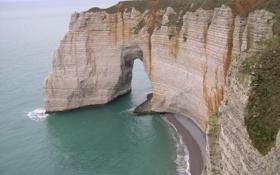 Картинка море, обрыв, скалы