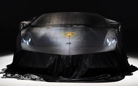 Картинка фары, Lamborghini, под тканью