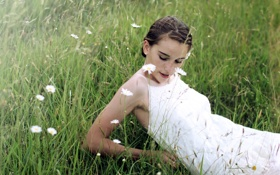Картинка поле, настроение, девочка