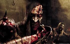 """Обои кровь, зомби, ужас, латы, clive barker""""s jericho"""