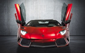 Картинка ангар, red, lamborghini, sportcar, mansory, Aventador