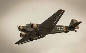 Картинка самолёт, Юнкерс, транспортный, Ю-52