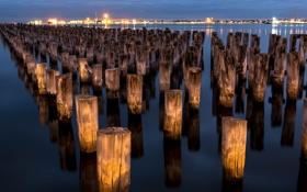 Обои Australia, Victoria, Port Melbourne. Melbourne, Princess Pier