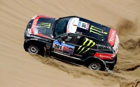 Обои песок, Черный, BMW, Пустыня, Машина, Гонка, Джип