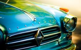 Обои car, машина, авто, ретро, фары, капот, borgward