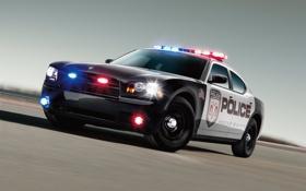 Картинка Dodge, Police, Flashers