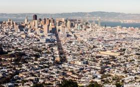 Картинка city, город, дом, улица, небоскреб, Калифорния, USA