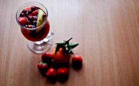 Обои ягоды, напиток, вкусно