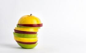 Картинка еда, яблоко, макро